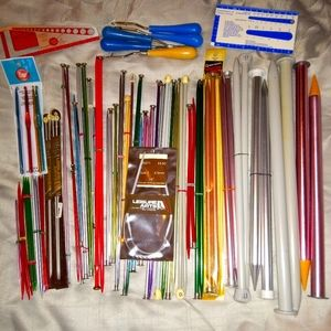 Huge Lot Vintage Knitting Needles